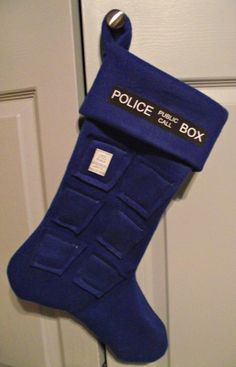 A TARDIS stocking would be great if it were bigger on the inside than the outside!  Make this Holiday Sexy by winning #Gifts from #EdenFantasys !
