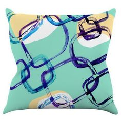 Kess InHouse Theresa Giolzetti Sixties Exposure Indoor / Outdoor Throw Pillow - TW1040AOP02