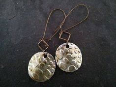 Upcycled Soda Pop Can Dangle Earrings | Rainy Roots Studio #handmade #jewelry