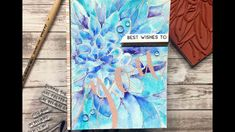 Hello and welcome back! I have a watercolored Dahlia Close Up card for you today. I started off by Rose Gold heat embossing our new dahlia stamp on a watercolor panel. Next I added turquoise waterc… Watercolour Tutorials, Watercolor Techniques, Watercolor Cards, Watercolour Painting, The Ton Stamps, Stamp Making, Making Cards, Colouring Techniques, Penny Black
