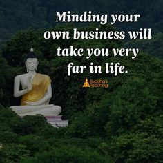 Minding your own business...