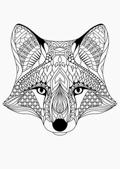 coloringpagesadultsfoxes - Google Search