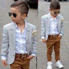 Boyswear: How to Get Boys to Dress and Act like Gentlemen Gent Style Inspiration Toddler Boy Fashion, Little Boy Fashion, Toddler Boy Outfits, Fashion Kids, Toddler Boys, Toddler Boy Dress Clothes, Toddler Boy Haircuts, Baby Boys, Outfits Niños