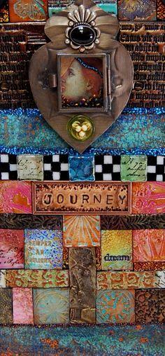 Gallery - Desert Dream Studios - The Artwork of Mary Jane Chadbourne Desert Dream, Dream Studio, Polymer Clay Projects, Art Journal Inspiration, Tile Art, Clay Art, Contemporary Artists, Mixed Media Art, Altered Art