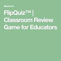 FlipQuiz™ | Classroom Review Game for Educators