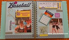 CTMH Bluebird My Crush Book - 2 page layout with flip flaps!
