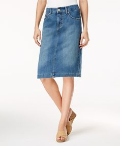 Style & Co Petite Denim Pencil Skirt, Created for Macy's - Skirts - Petites - Macy's