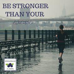 Determinację jaką potrafimy bronić się przed rozpoczęciem aktywności ruchowej lepiej skierować na trening. Nie szukajmy wymówek- wpiszmy codzienną dawkę ruchu do naszego kalendarza!