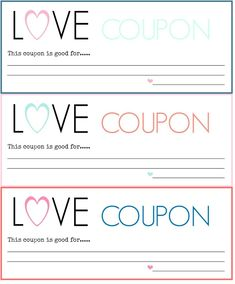 Free printable love vouchers projects to try pinterest for Romantic coupon book template