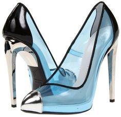 Giuseppe Zanotti Mirror Heel Pumps in Clear Blue/Black                                                                                                                                                     More