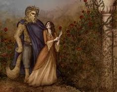 Beauty and the Beast, fairy tale illustration