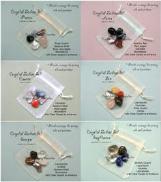 The Crystal Zodiac Sets from http://www.thecrystalhealingconnection.com/