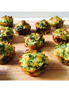 Spinach, Zucchini & Bacon Muffins
