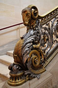 Château de Chantilly ram stairway. Looks a bit steampunk to me, but it was built before the movement. Enjoy RUSHWORLD boards, STAIRWAYS TO HEAVEN, UNPREDICTABLE WOMEN HAUTE COUTURE  EYE CANDY ARCHITECTURAL MASTERPIECES. Follow RUSHWORLD! We're on the hunt for everything you'll love!