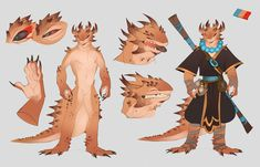 Horned lizard by manabreakfast Character Creation, Fantasy Character Design, Character Design Inspiration, Character Concept, Character Art, Character Ideas, Dungeons And Dragons Characters, Dnd Characters, Fantasy Characters