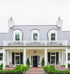 Fancy front porch / classic front facade