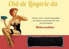 Kit Chá de Lingerie Pin-Up | Download Grátis