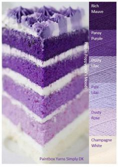 Kleurinspiratie Have your Cake / Pippin Poppycock Purple Palette, Color Schemes Colour Palettes, Colour Pallette, Color Palate, Palette Violette, Pantone, Colours That Go Together, Yarn Color Combinations, Design Seeds
