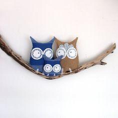 Just divine, so gorgeous for a boys nursery, #blue #owl