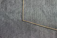 Straight Stitches on a Jeans Pocket Topstitch