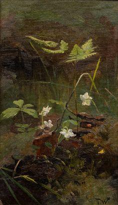 Torsen Warastjerna - Study of springflowers, oil on panel, 28 x 17 cm. Flower Paintings, Oil Paintings, Botanical Art, Still Life, Are You Happy, Art Pieces, Grasses, Ferns, Gallery
