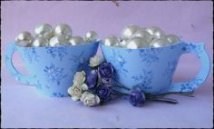 Blue china teacup cupcake wrappers. Lovely for mothers day. £3.20 for 6 or £6 for 12.