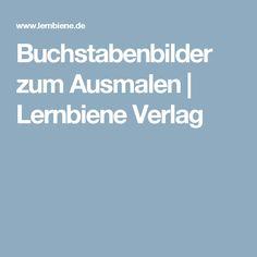 Buchstabenbilder zum Ausmalen | Lernbiene Verlag
