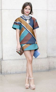 Miroslava Duma at Paris Couture Resplendent in an Ostwald Helgason top and skirt - a favourite designer of the Russian pack.