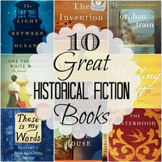 I love historical fiction because it allows me to go back in time and live through a certain time period.