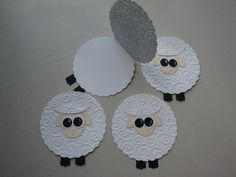 Lamb - the cutest card for baby invitations, announcements, welcomes, and any other just because occasion. Same thing for butterflies Eid Crafts, Bible Crafts, Holiday Crafts, Toddler Crafts, Preschool Crafts, Crafts For Kids, March Crafts, Spring Crafts, Sunday School Crafts