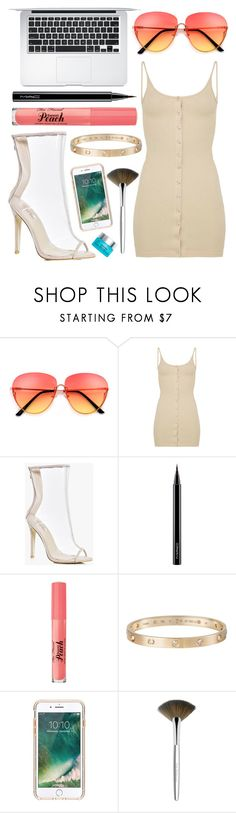 """""""7.7.2017."""" by beautybyee ❤ liked on Polyvore featuring Boohoo, MAC Cosmetics, Cartier, Griffin, Trish McEvoy and Tula"""