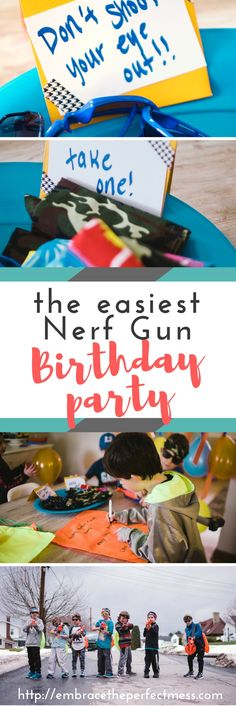 This was such an easy nerf gun birthday party to plan, and the kids had a blast!