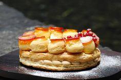 Saint-Honore (Caramelized choux puff, hazelnut and praline cream)