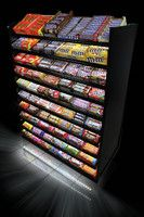 Mars Chocolate and Wrigley are introducing racks illuminated with LED lights that the companies say can lift front end grocery sales by 10 to 12 percent. Supermarket Design, Retail Store Design, Alcohol Shop, Bakery Shop Design, Reception Desk Design, Airport Design, Coffee Shop Bar, Candy Display, Home Decor Ideas