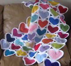Crochet Granny Heart Squares Free Pattern