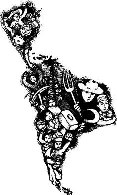 Resultado de imagen para latinoamerica revolucionaria Stencil Art, Stencils, Latina Tattoo, Arte Latina, Cinematic Photography, Tattoo Project, Map Design, Pretty Tattoos, Logo Color