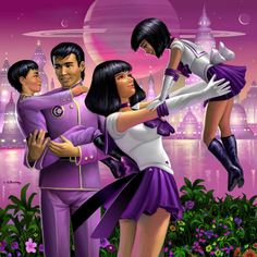 Sailor Saturn and family