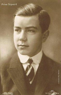 Prince Sigvart Bernadotte (1907-2002) fils de Gustaf VI Adolf , Roi de Suède (1882-1973) et de Margaret de Connaught , princesse de Grande-Bretagne (1882-1920)