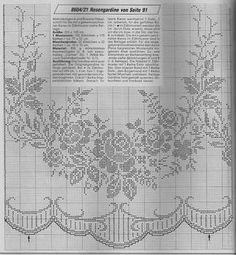 Kira scheme crochet: Search results for curtains Filet Crochet Charts, Crochet Cross, Crochet Home, Crochet Stitches, Free Crochet, Knit Crochet, Crochet Curtains, Crochet Tablecloth, Crochet Doilies