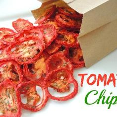 Tomato Chips! Not using a dehydrator, but using the oven to make these fresh chips for meals and snacks