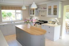warm & inviting grey painted kitchen
