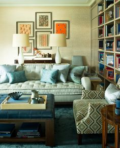 Ocean Modernist  Library  Living  Contemporary by Steven Gambrel