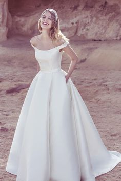 Satin Ball Gown - Darling Retro Wedding Dresses - Photos