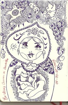 Fun Matrioska Ex Libris by ellrac.deviantart.com on @deviantART