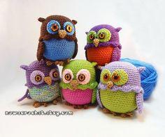 Owl mini casket - PDF crochet pattern..