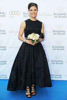 Crown Princess made a slightly late entrance at the Bernadotte Art Award in Stockholm as she earlier in the evening handing out children's book price Alma Astrid Lindgren Memorial Award. 3 June 2014