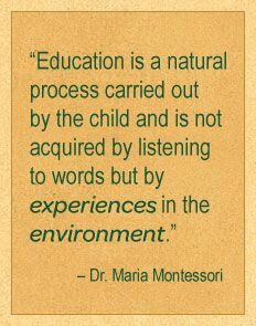 learning through experiences in nature / outdoor classroom / village montessori Preschool Quotes, Teaching Quotes, Education Quotes, Montessori Education, Montessori Classroom, Primary Education, Baby Education, Jean Piaget, Play Based Learning