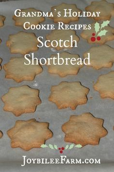 The original shortbread cookie recipe has only 3 simple ingredients, flour, sugar, and real butter. I've updated it with organic sugar and unbleached organic flour from Bob's Red Mill. Holiday Cookie Recipes, Holiday Cookies, Candy Recipes, Real Food Recipes, Dessert Recipes, Fast Recipes, Delicious Desserts, Shortbread Recipes, Shortbread Cookies