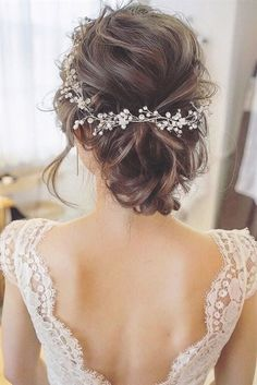 Bridal hair vine Crystal and Pearl hair vine Hair Vine Brida. - Bridal hair vine Crystal and Pearl hair vine Hair Vine Bridal Hair Vine Wedding Hair Vine Crystal H - Crystal Hair, Pearl Hair, Crystal Jewelry, Crystal Rhinestone, Boho Hairstyles For Long Hair, Hairstyles 2018, Beautiful Hairstyles, Bride Hairstyles Short, Hairstyle Ideas