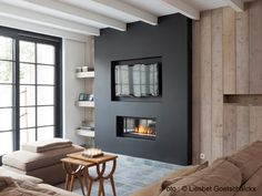 #fireplace with television above